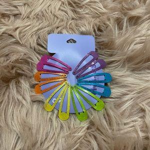 Claires barrettes multicolor